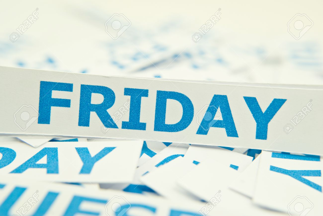 Friday word texture background. Stock Photo - 10327806