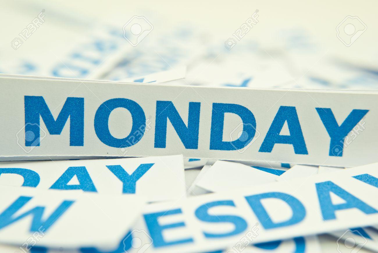 Monday Word 10327809-Monday-word-texture-