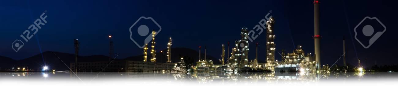 Night scene of oil purify plant. Stock Photo - 11586811