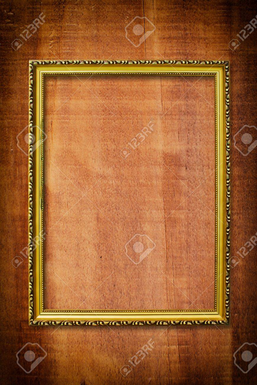 Photo frame on the wood texture. Stock Photo - 11983054