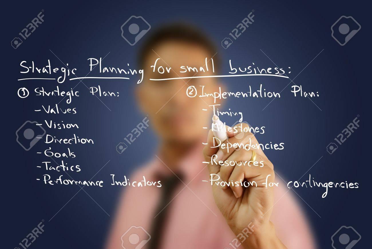 Businessman write business strategic planning on the whiteboard. Stock Photo - 12120123
