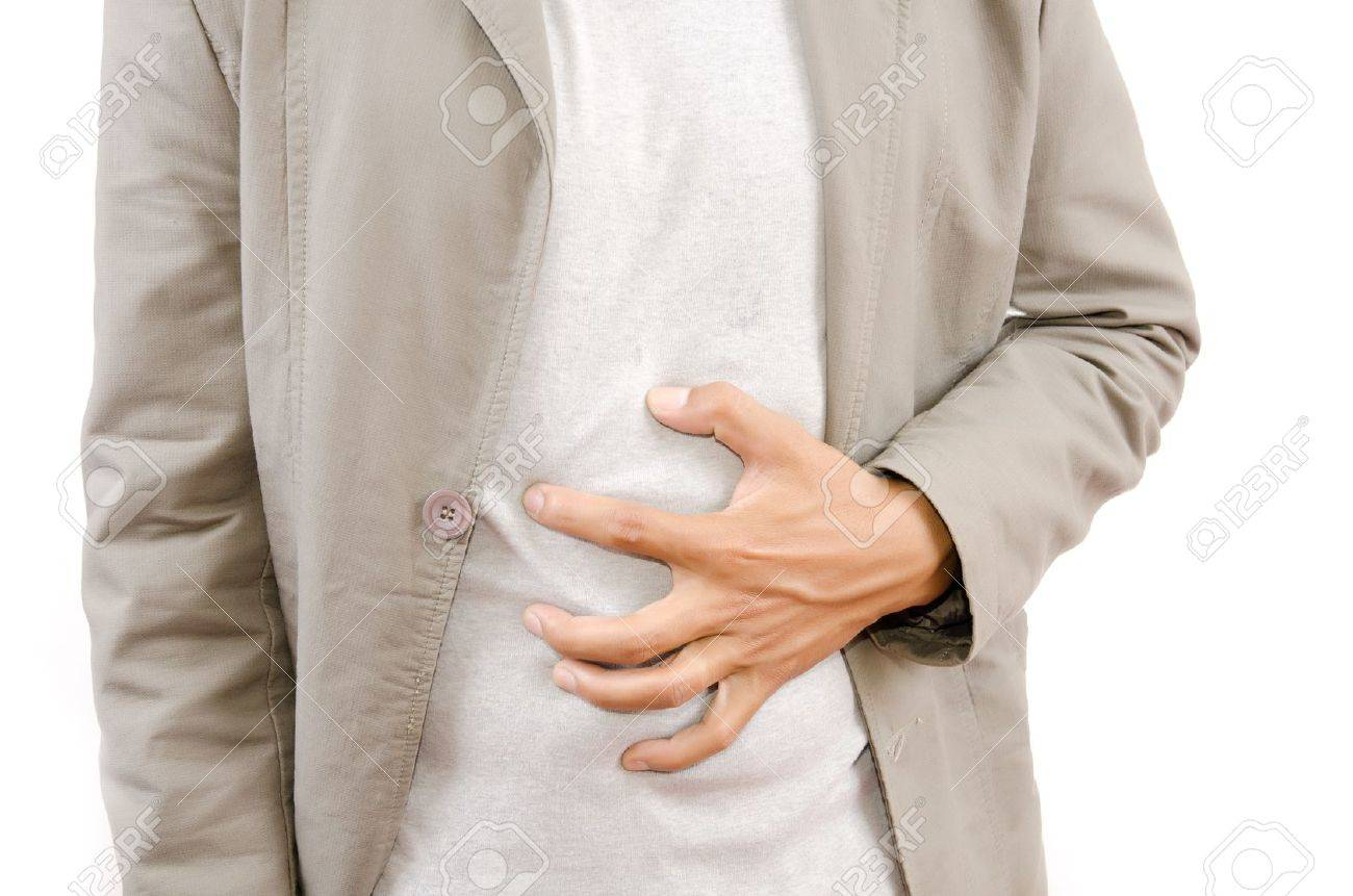 Businessman Suffering From Abdominal Pain Stock Photo - 14189111