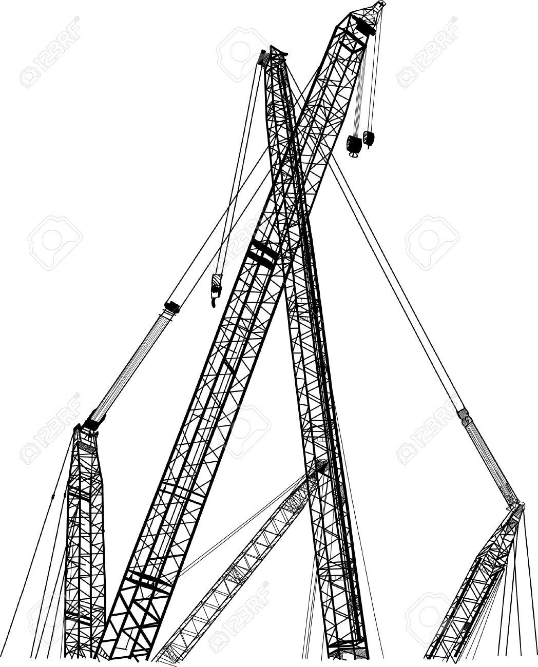 Crane line vector sketch up. Stock Vector - 14924338