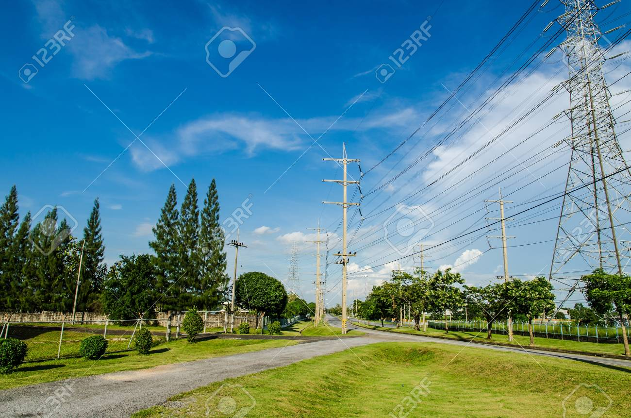 Estates Zone under Construction with Blue Sky field Stock Photo - 15711730