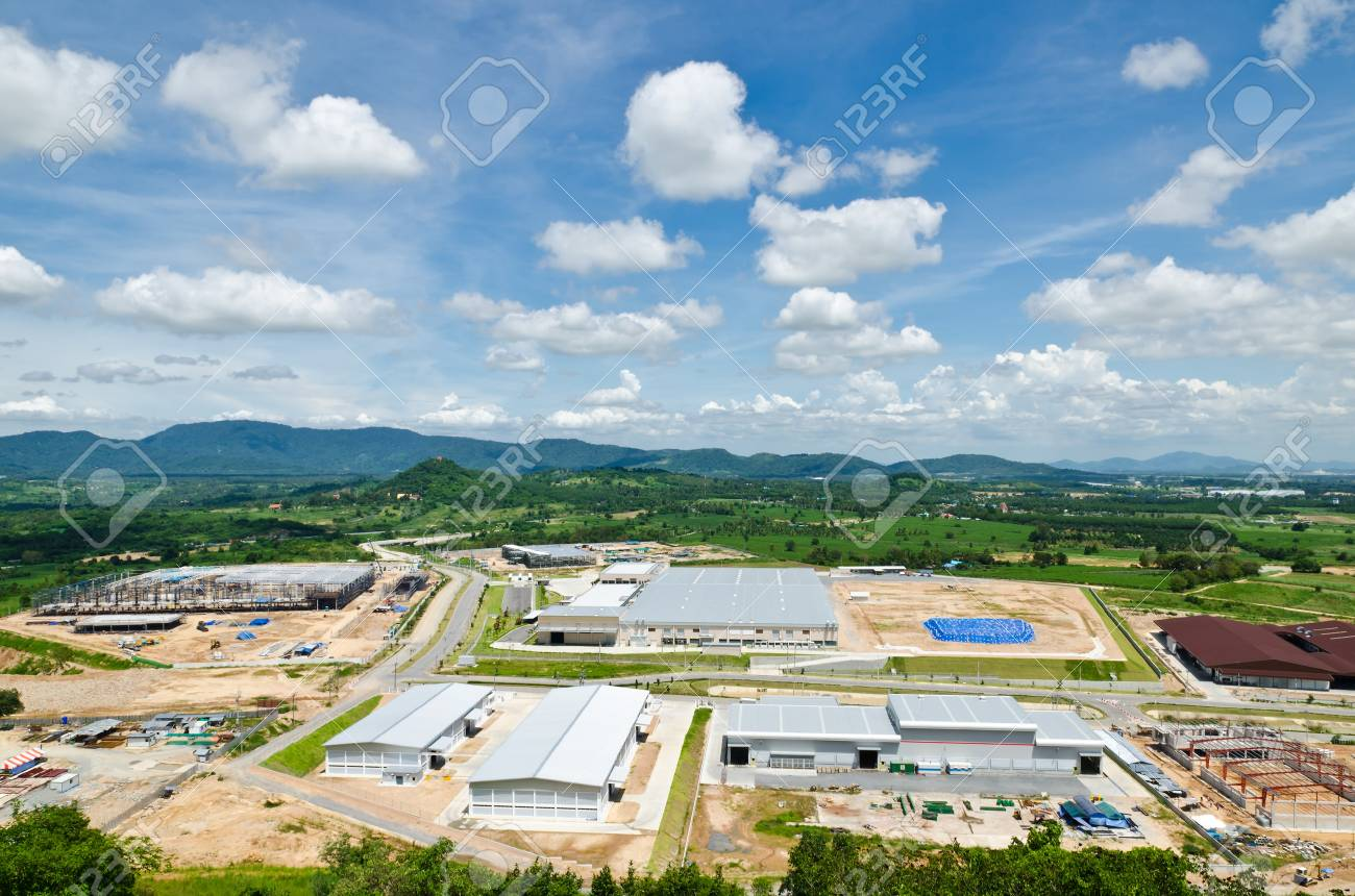 Estates Zone under Construction with Blue Sky field Stock Photo - 15711699
