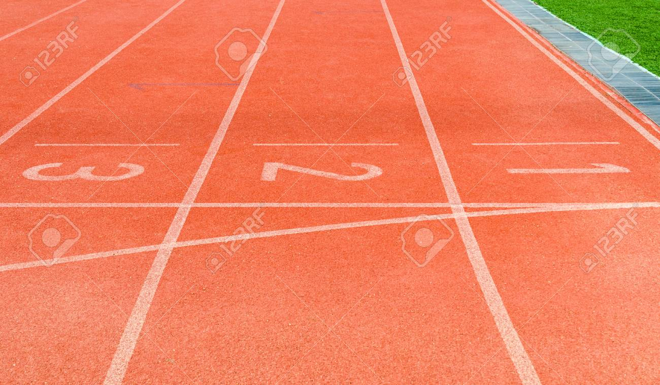 Running track numbers 1 2 3 Stock Photo - 16215497