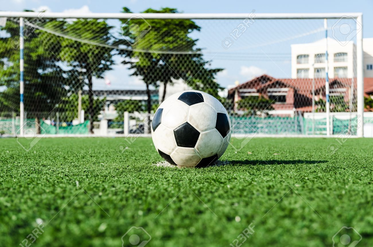 Soccer Football On Penalty Spot For Penalty Kick Stock Photo, Picture And  Royalty Free Image. Image 16394524.