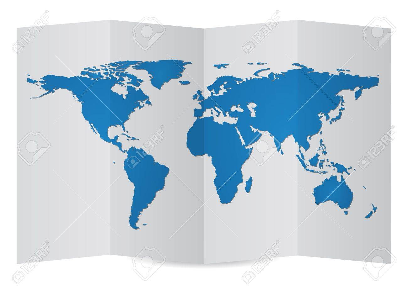 World map globe on folder paper vector illustration eps 10 royalty vector world map globe on folder paper vector illustration eps 10 gumiabroncs Image collections