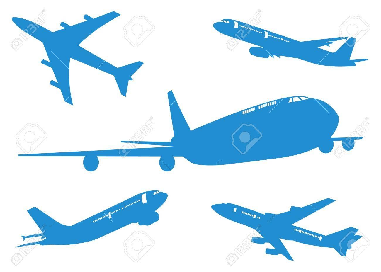 航空機航空機のシルエット ベクトル イラストeps 10 セットの