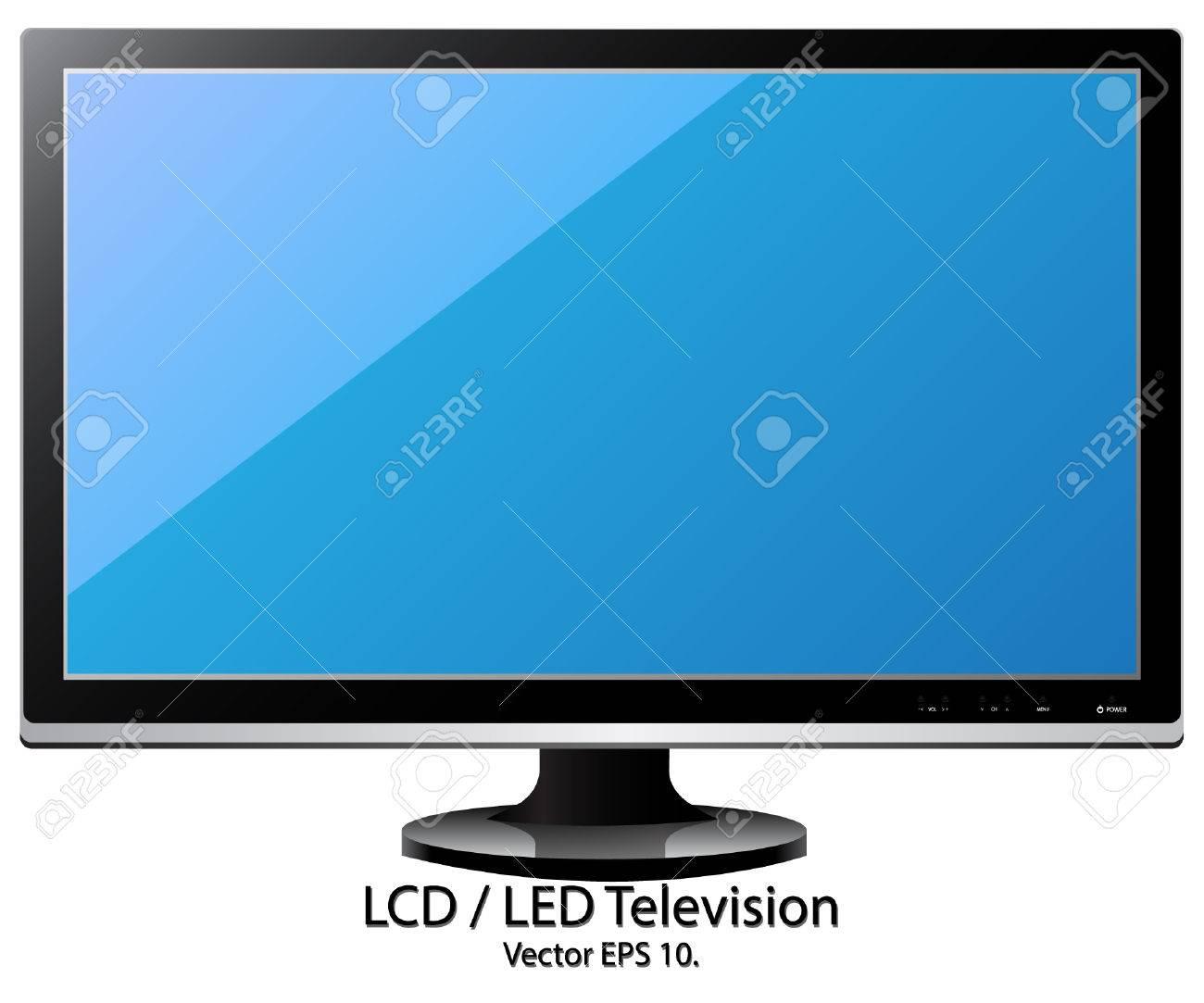 led 液晶テレビ ベクトル イラスト、eps 10 ロイヤリティフリークリップ