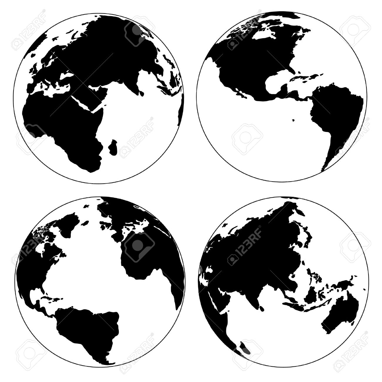 World map and globe detail vector illustration royalty free cliparts vector world map and globe detail vector illustration gumiabroncs Choice Image