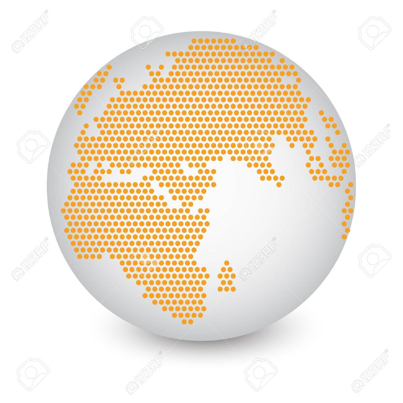 World map in globe vector copy best world map cartoon globe best dotted world map globe made of circle shapes vector illustration eps 10 stock vector 24382023 gumiabroncs Image collections