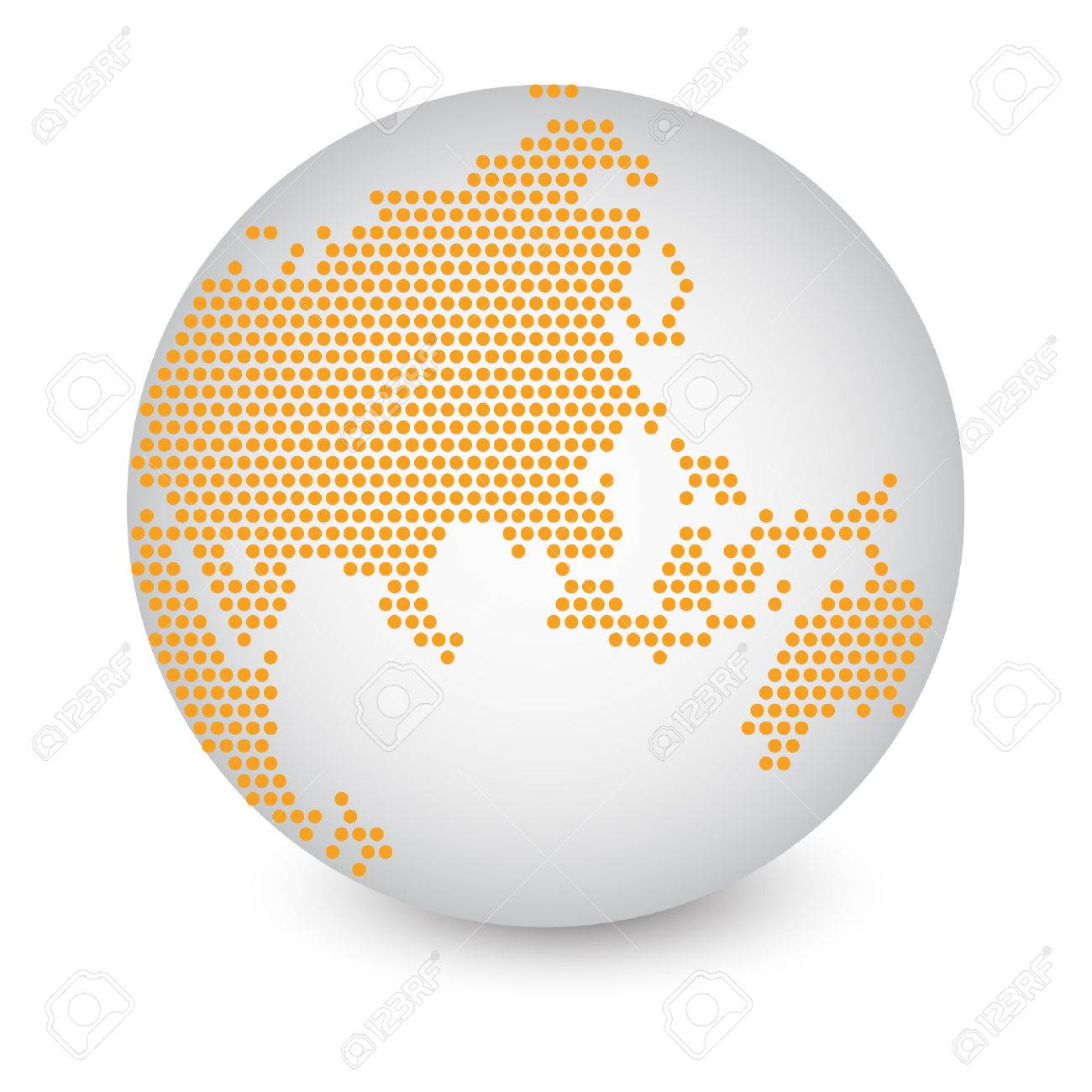 Dotted world map globe hecho de ilustracin crculo formas dotted world map globe hecho de ilustracin crculo formas vectoriales eps 10 foto de archivo gumiabroncs Image collections