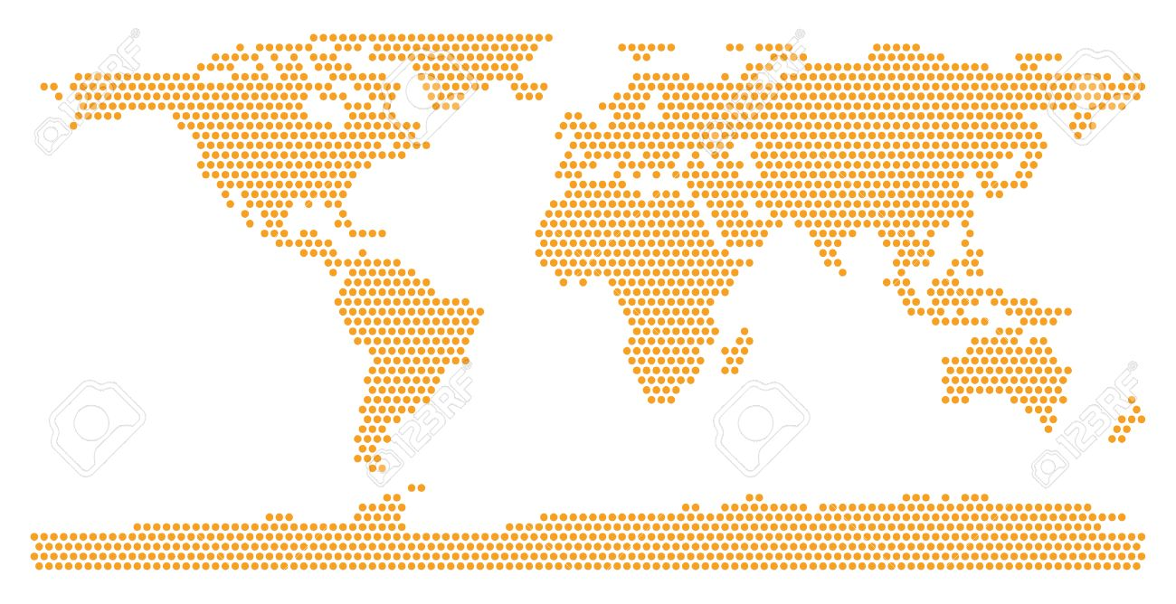 Dotted world map globe made of circle shapes vector illustration dotted world map globe made of circle shapes vector illustration stock vector 24382029 gumiabroncs Image collections