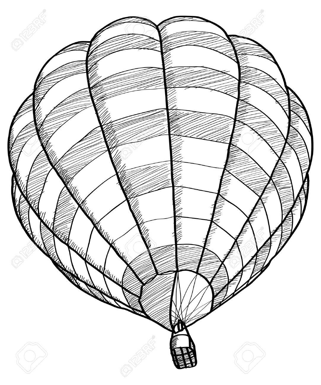 Doodle Of Hot Air Balloon Vector Sketch Up Line Royalty Free ...