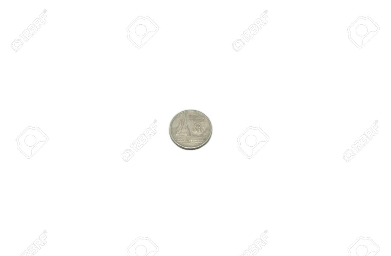 1 Baht Münze Von Thailand Lizenzfreie Fotos Bilder Und Stock