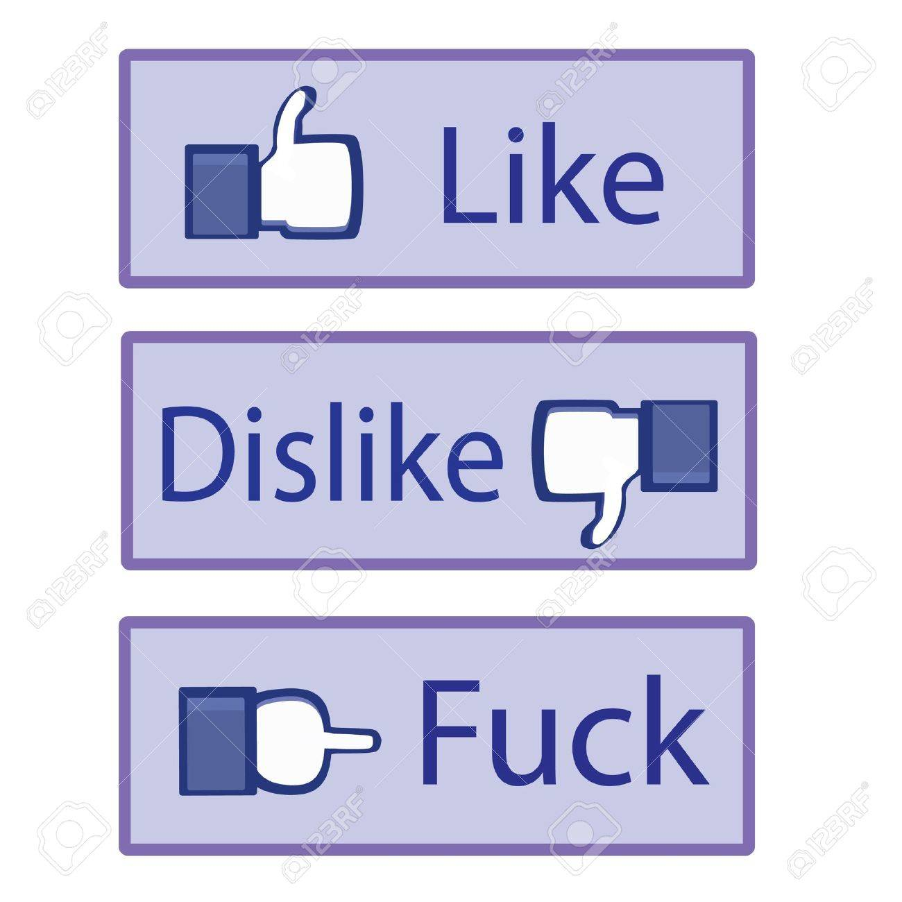 The icons of like dislike and fuck. Stock Vector - 9995617