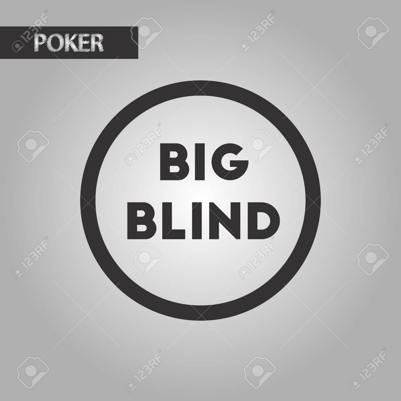 Black And White Style Poker Big Blind