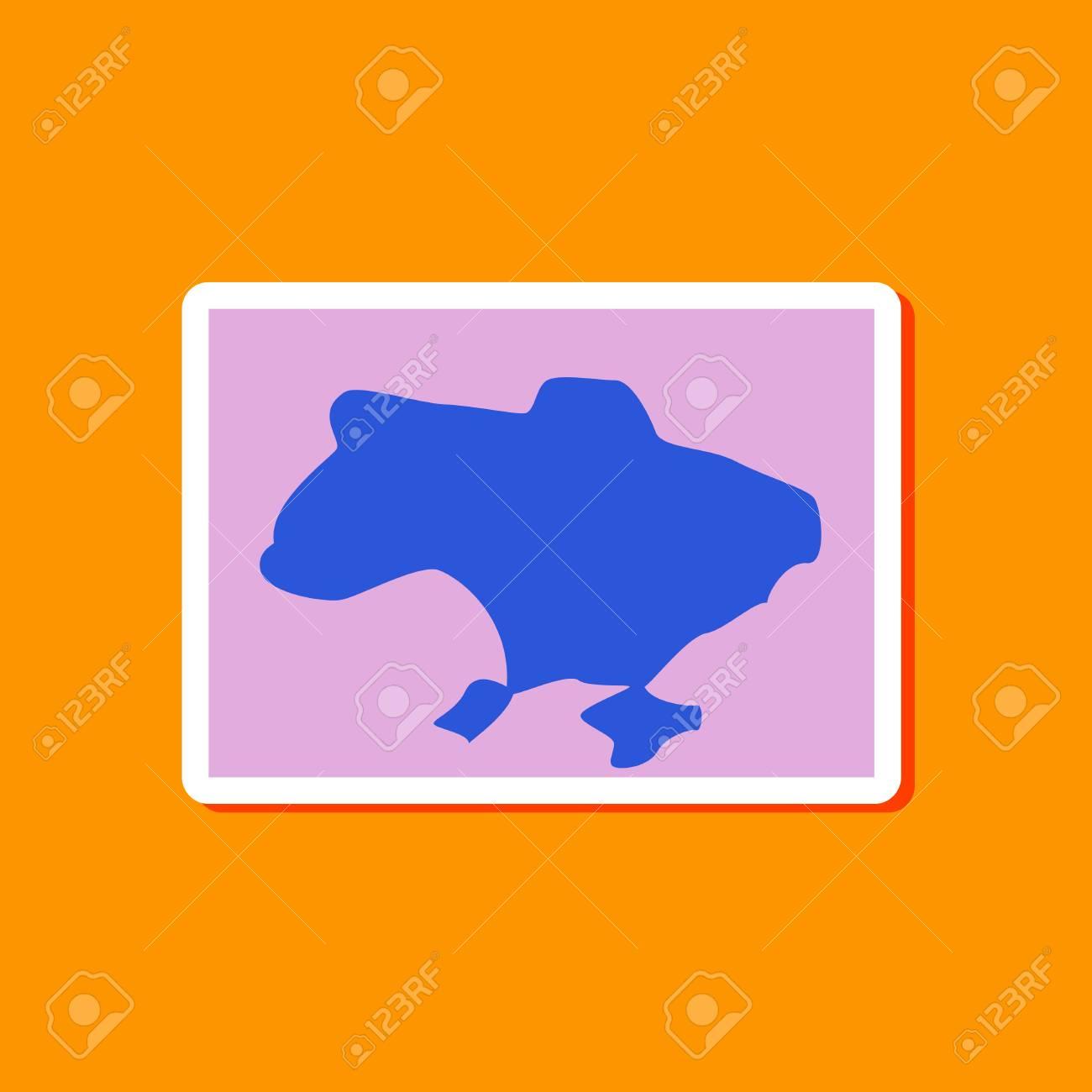 paper sticker on stylish background of map Ukraine - 62579122