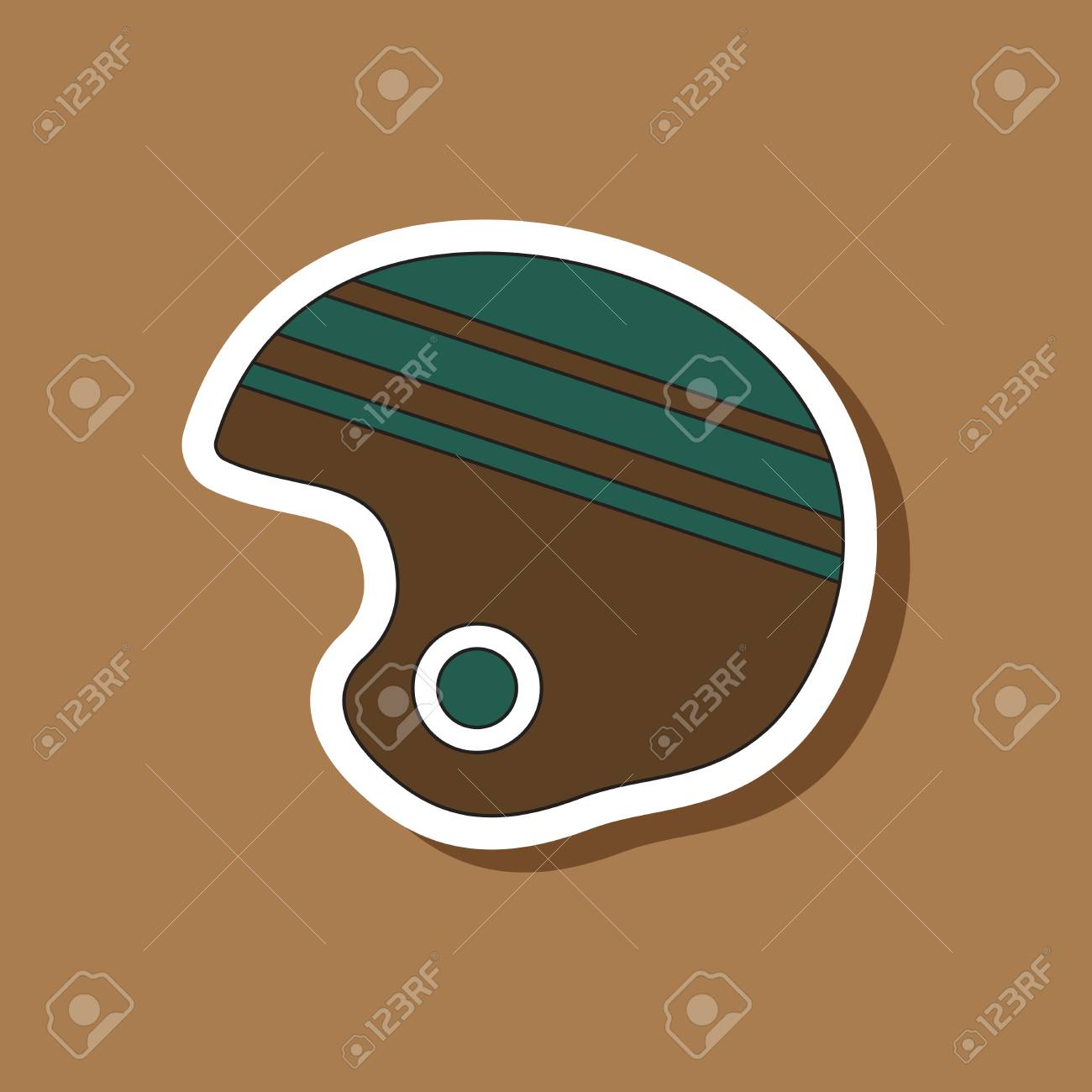 Paper sticker on stylish background ski helmet stock vector 80418058