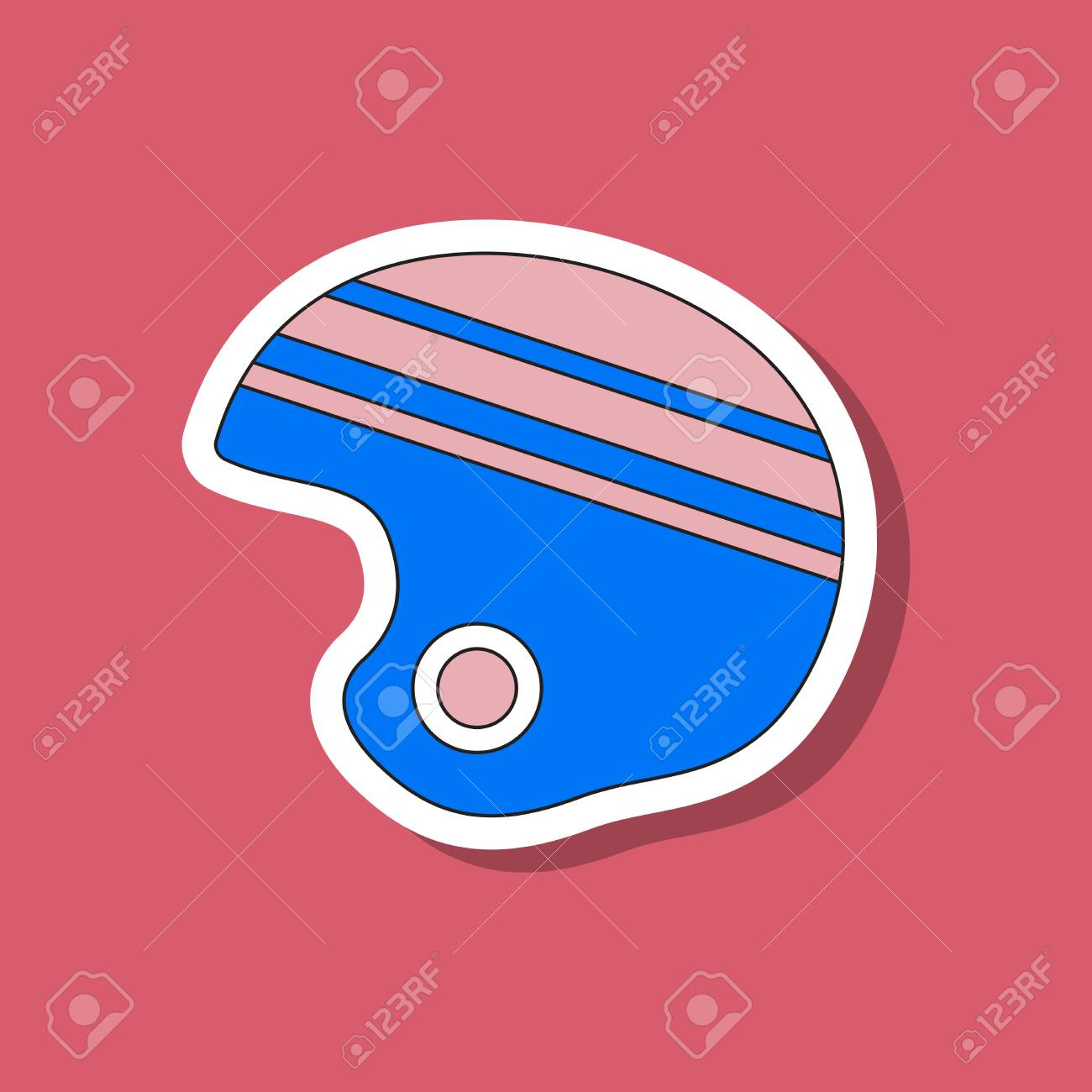 Paper Sticker On Stylish Background Ski Helmet
