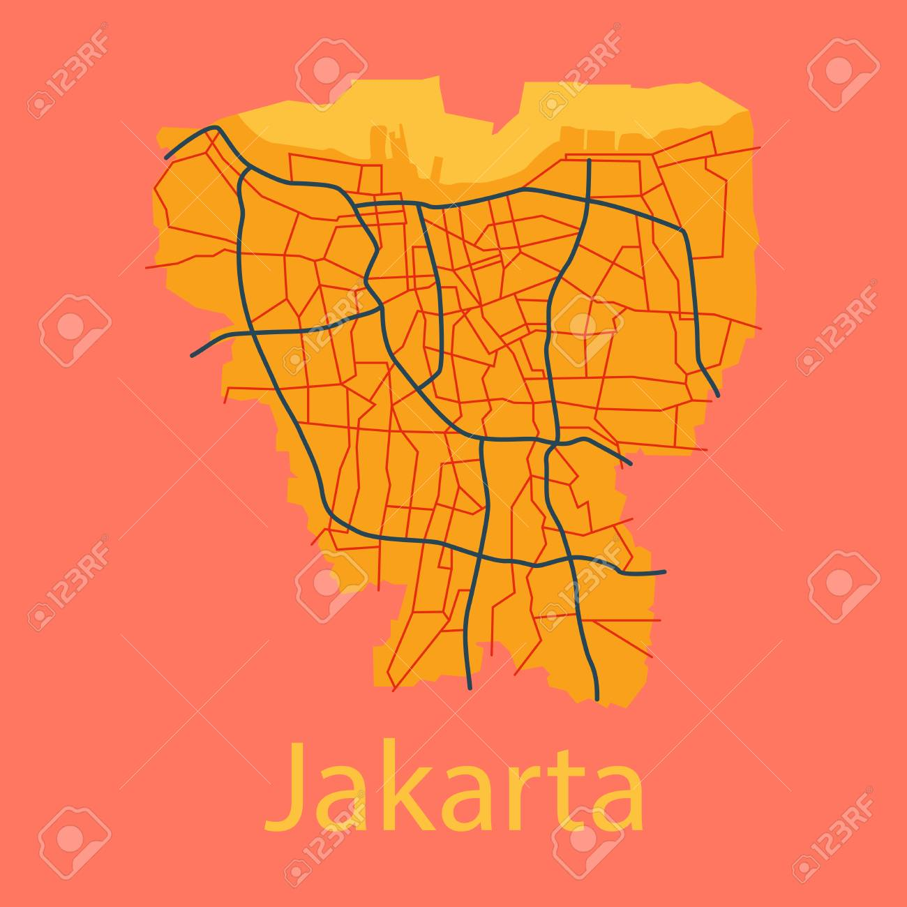 flat outline map of the indonesian capital jakarta royalty free cliparts vectors and stock illustration image 96878821 flat outline map of the indonesian capital jakarta