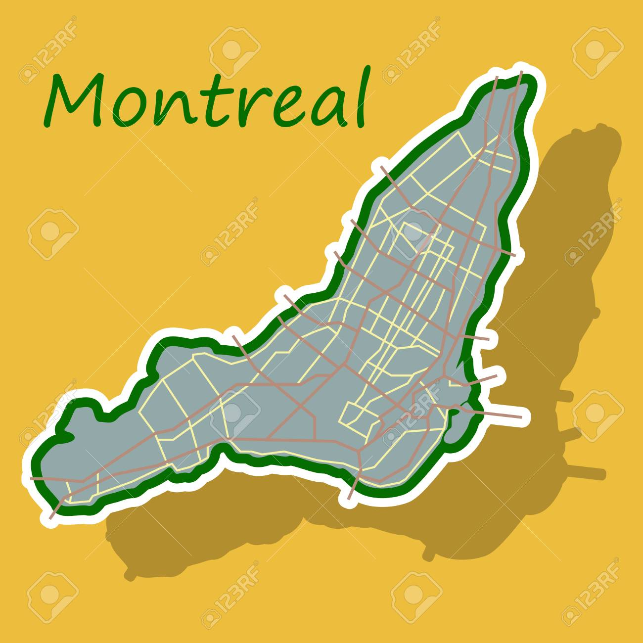 Map Of Montreal Sticker Map Of Montreal Is A City Of Canada, With Borders Of  Map Of Montreal