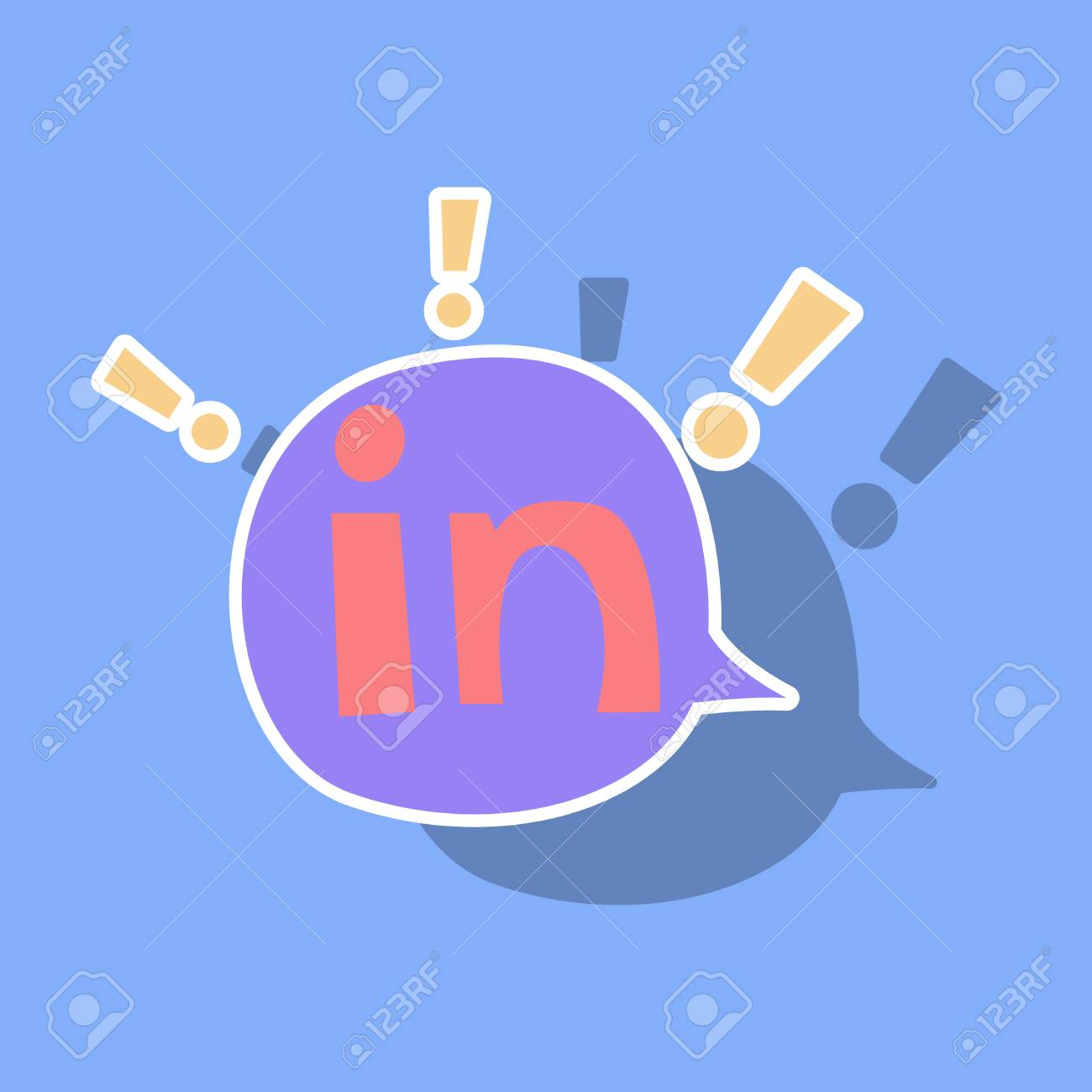 sticker linkedin color icon glossy app icon logo vector royalty