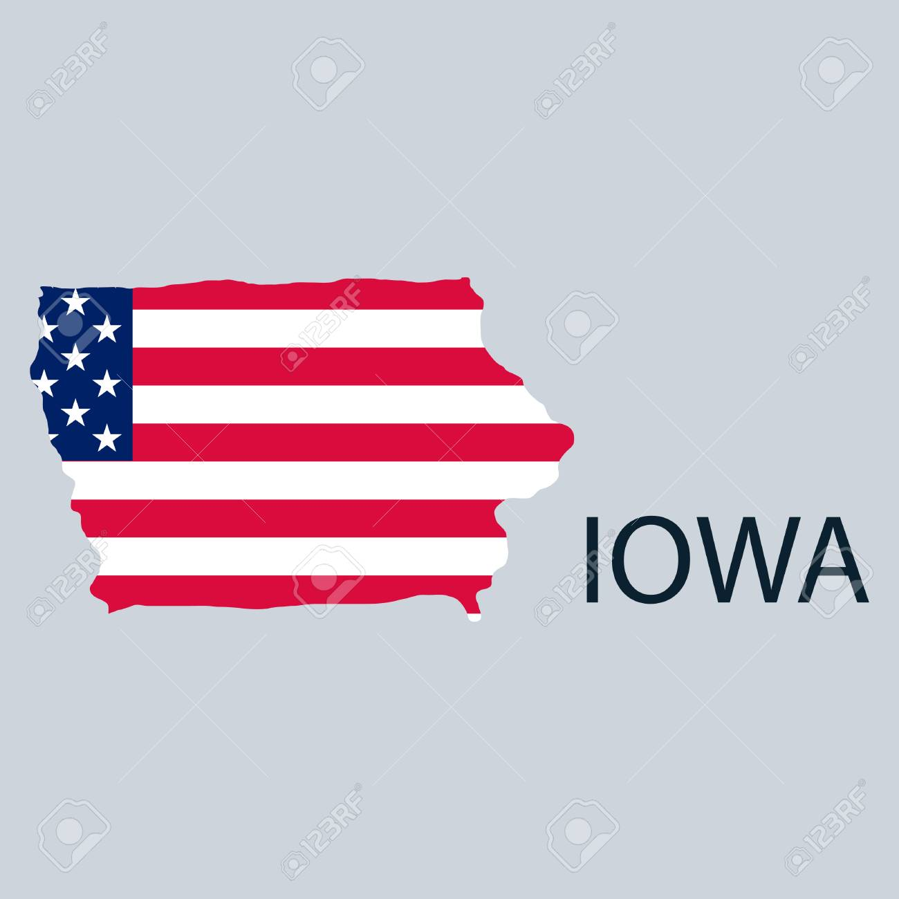 picture regarding Printable Map of Iowa called Iowa region of The united states with map. Flag print upon map of United states for..