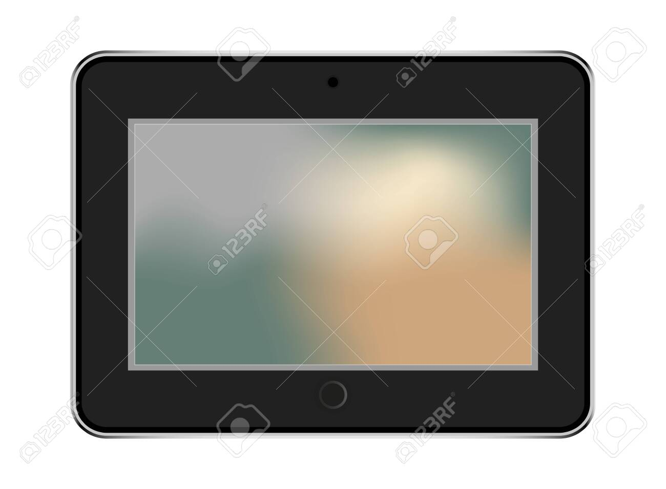 tablet in style black color with trending backgrounds - 151541341