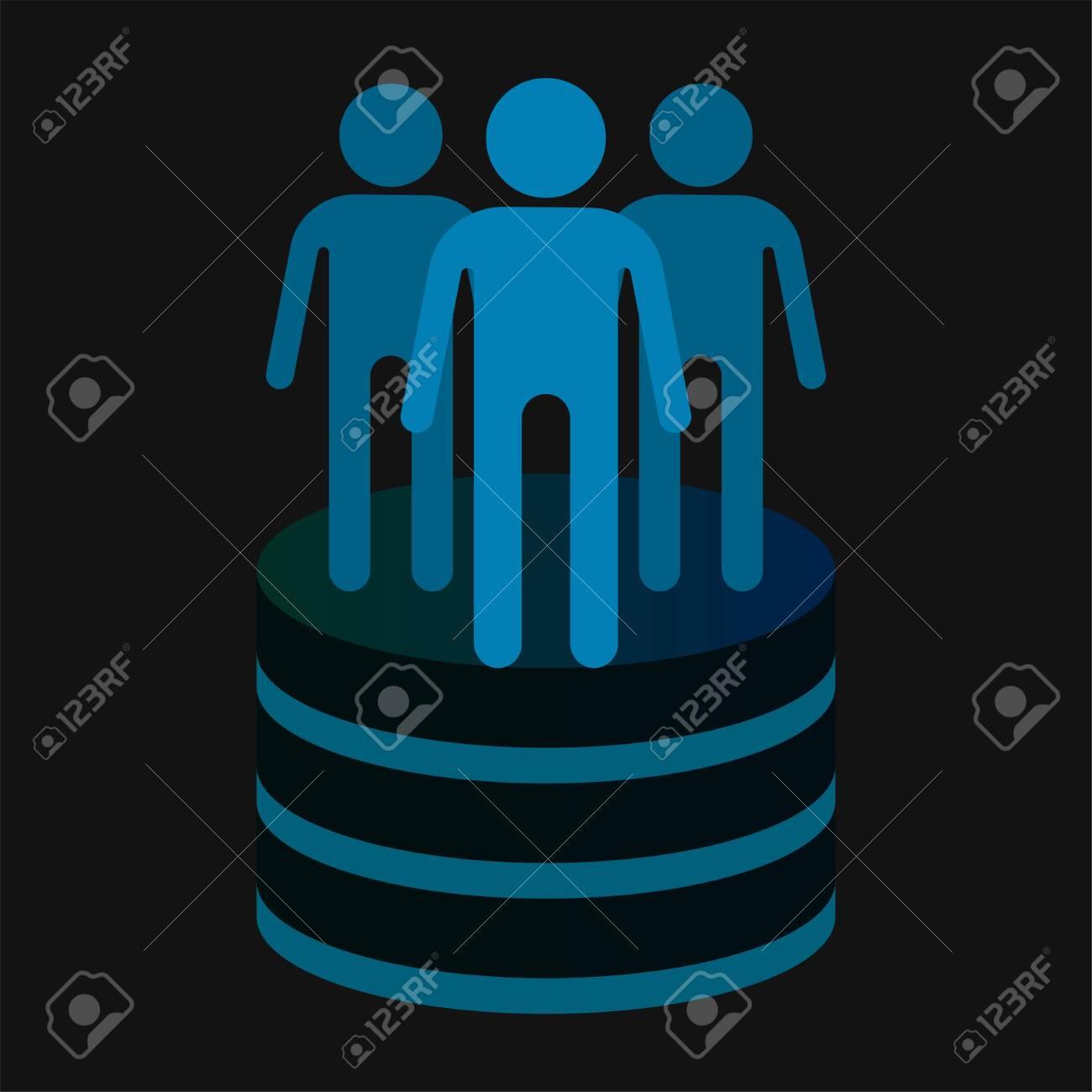 Data warehouse icon logo design. Vector illustration - 128904253