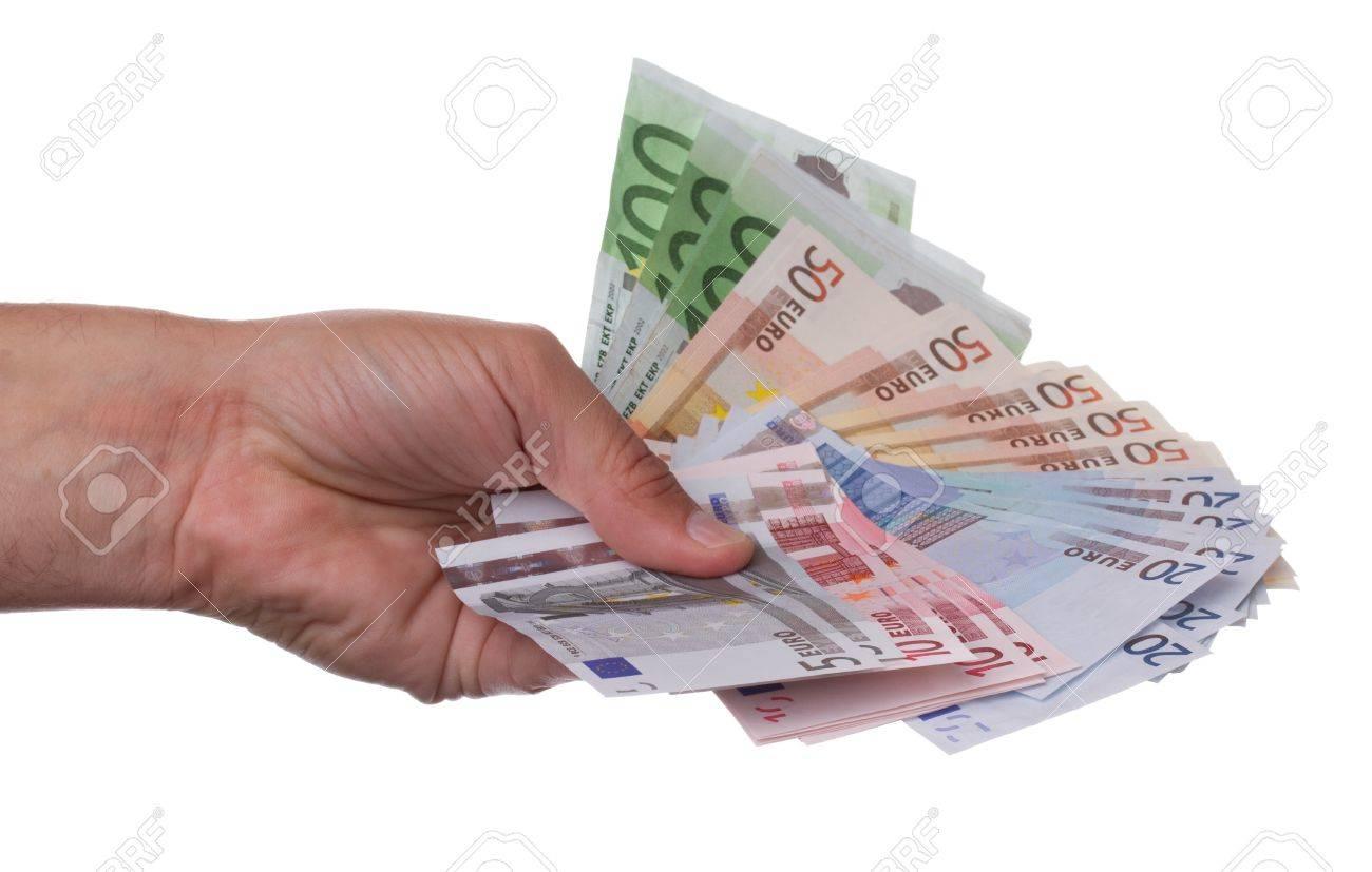Hand holding euro notes Stock Photo - 9779055