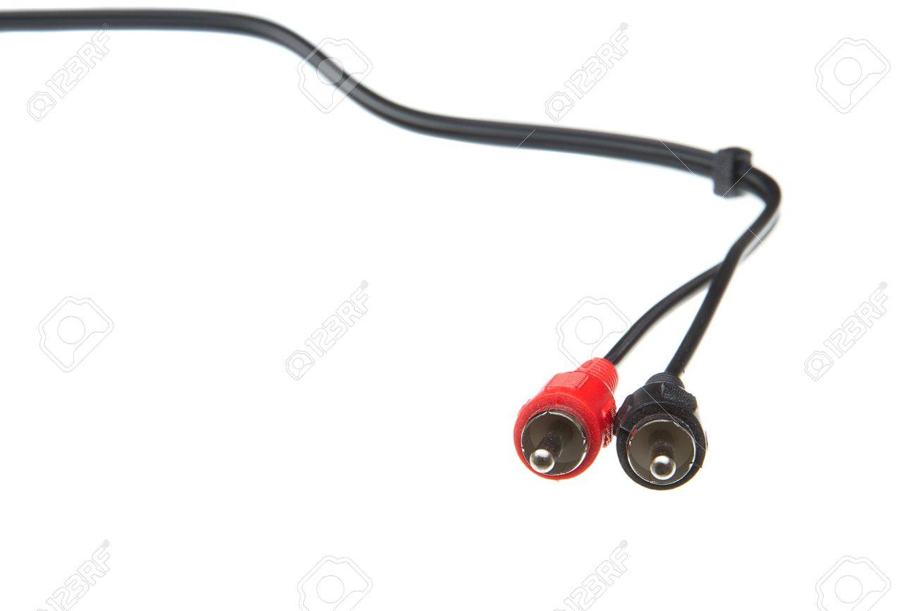 RCA stereo audio cable Stock Photo - 11784463
