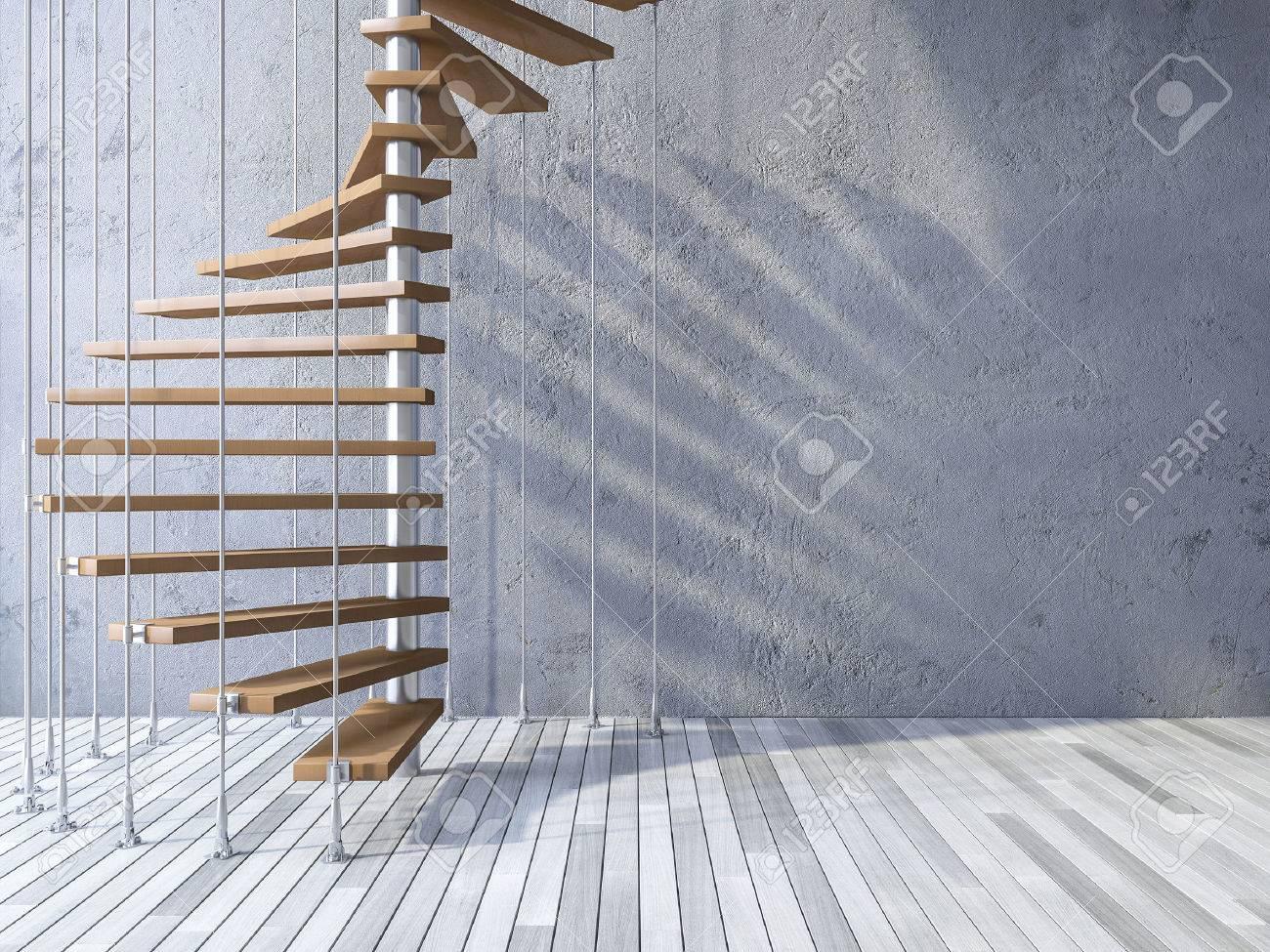 3ds Rindió La Imagen De La Escalera De Caracol De Madera Colgado Del ...