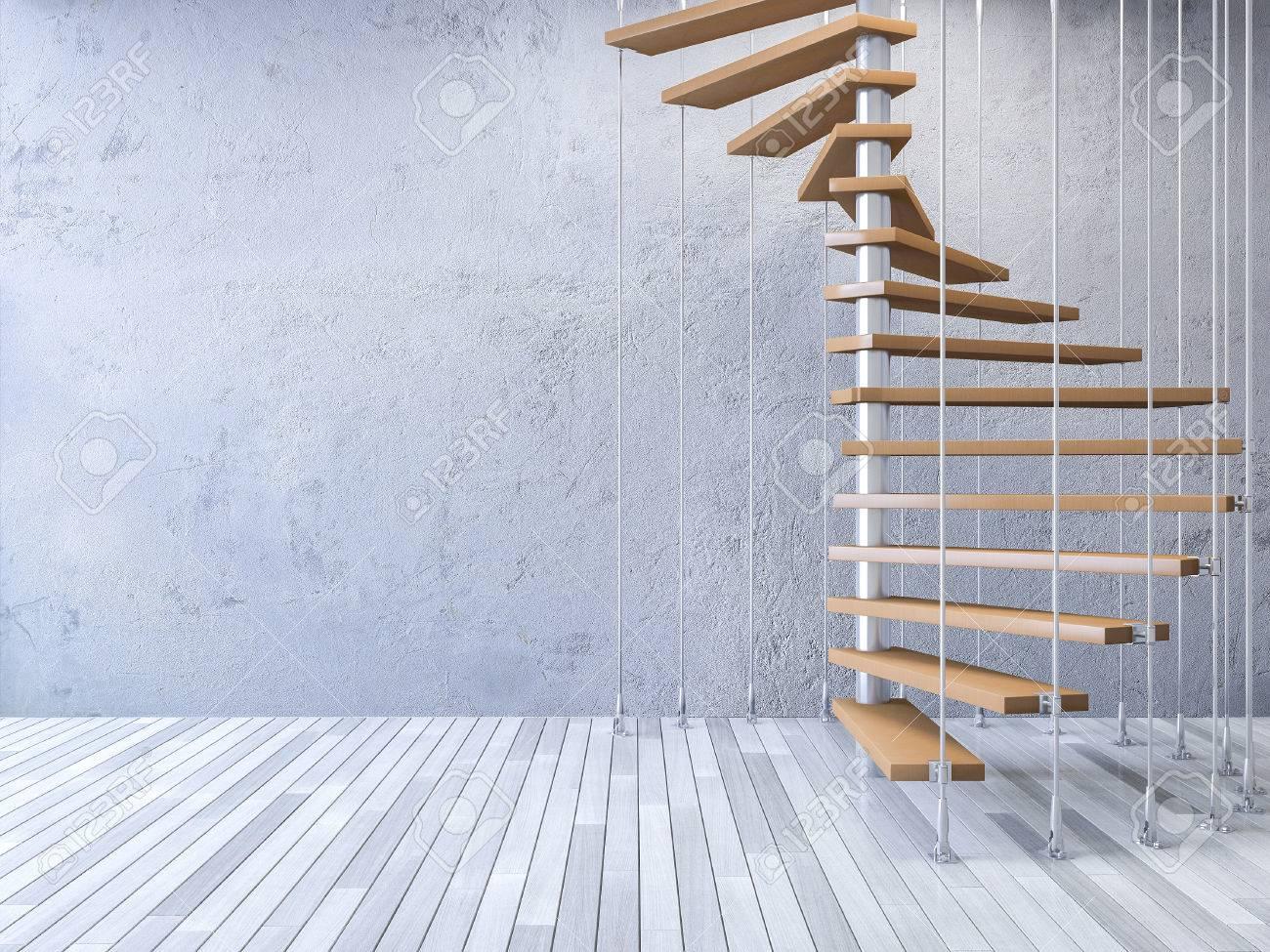 ds rindi la imagen de la escalera de caracol de madera colgado del techo por cables
