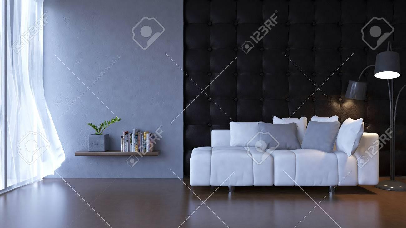 Intérieur 3d D\'un Salon De Style Loft Banque D\'Images Et Photos ...