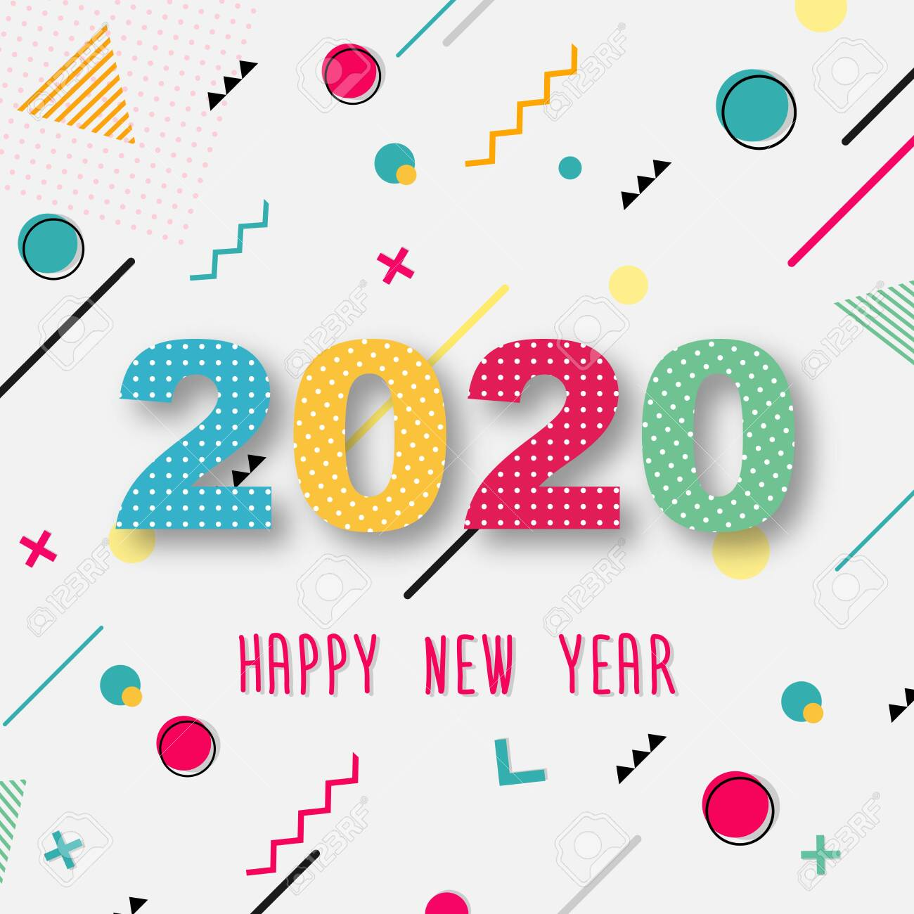 creative design of a new year card of 2020 on a modern background royalty free cliparts vectors and stock illustration image 128616285 creative design of a new year card of 2020 on a modern background