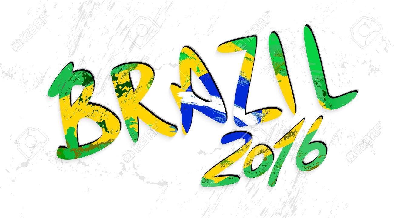 brazil 2016 lettering with brazilian flag hand drawn letters rh 123rf com grunge texture vector free download grunge texture vector illustrator