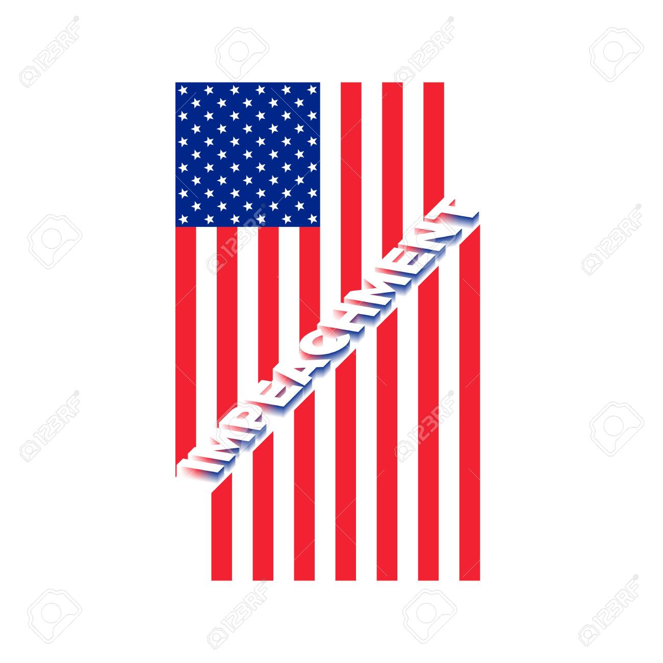 American Flag To Impeachment Inquiry Procedure State Symbol Royalty Free Cliparts Vectors And Stock Illustration Image 130539904