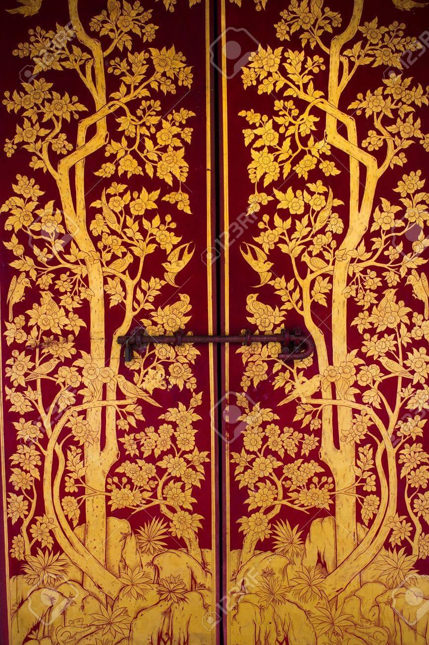 Beautiful Thai door Stock Photo - 13995053 & Beautiful Thai Door Stock Photo Picture And Royalty Free Image ... Pezcame.Com