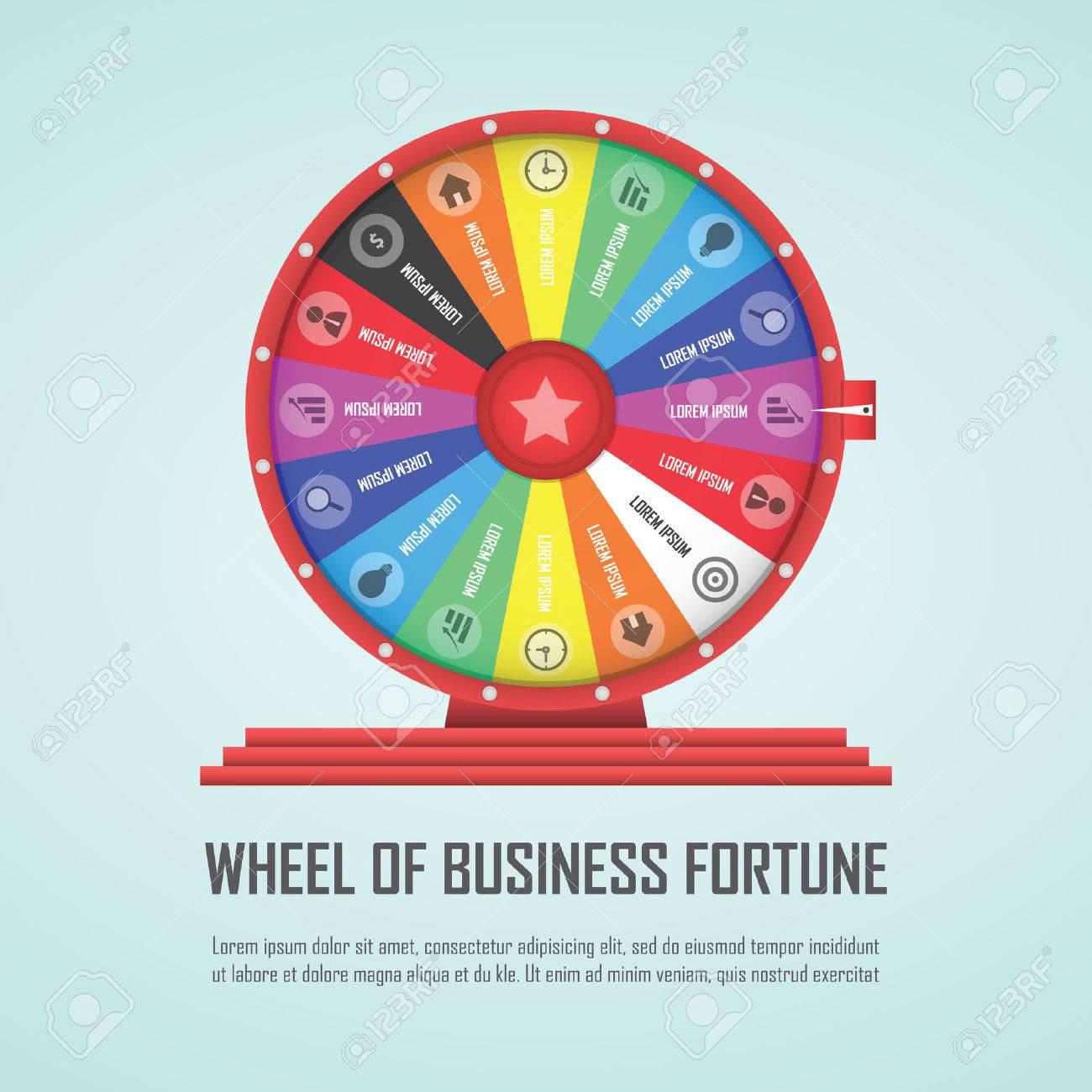 Wheel of fortune infographic design element - 39768545