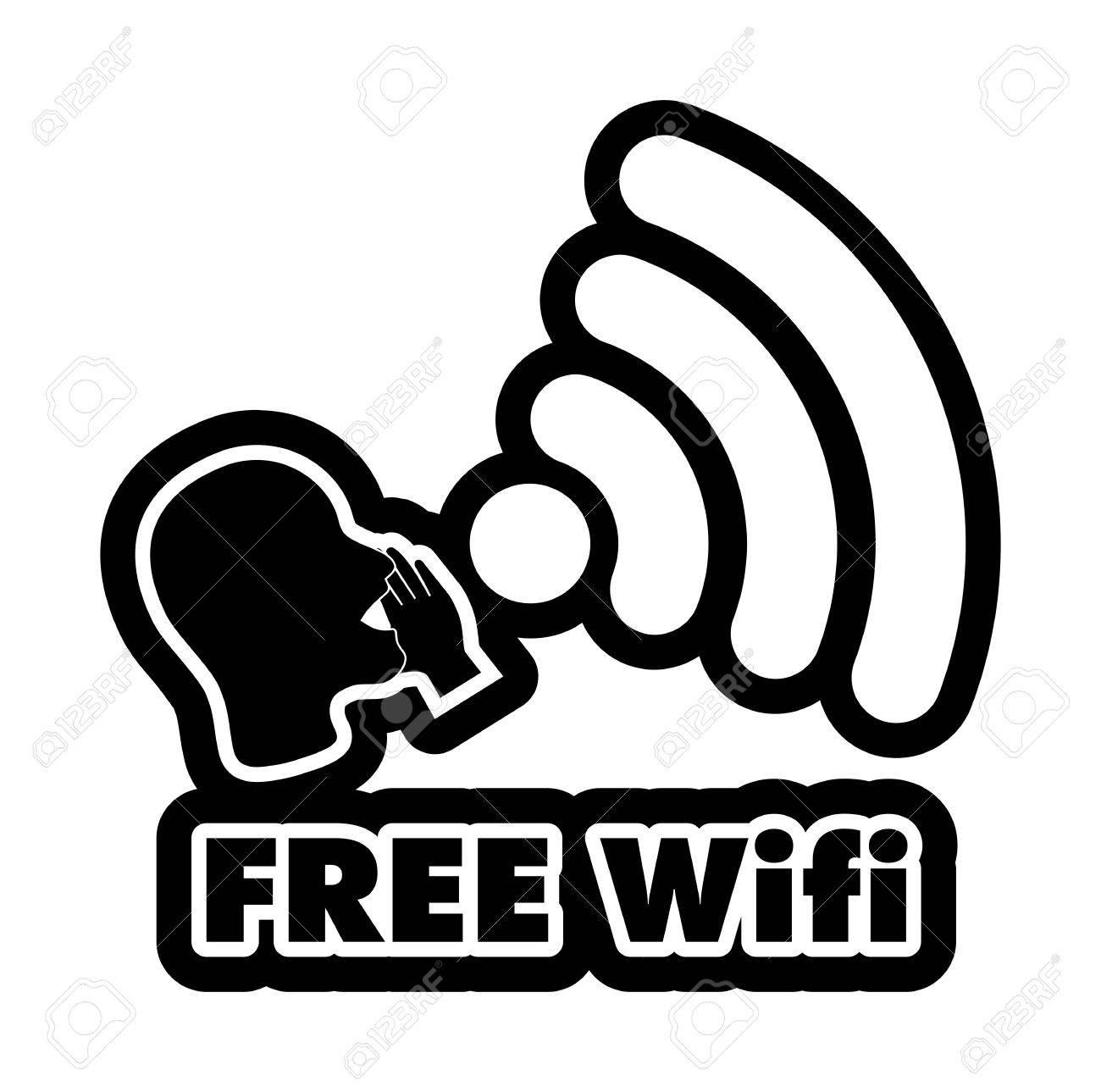 free wifi vector illustration sticker all main elements are rh 123rf com free wifi login page free wifi login for xfinity