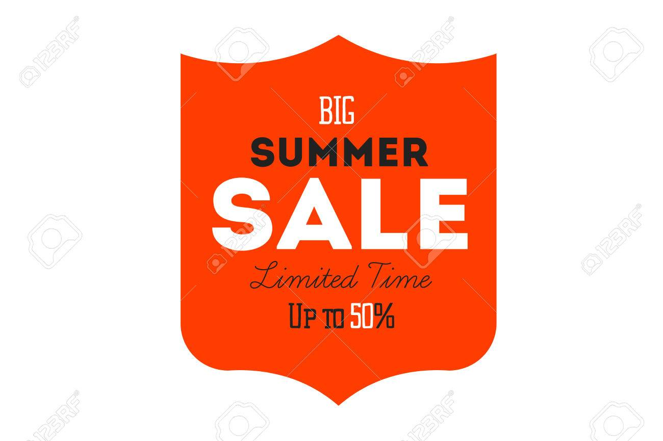 Summer Sale Tag Template Vector achievement certificate templates free