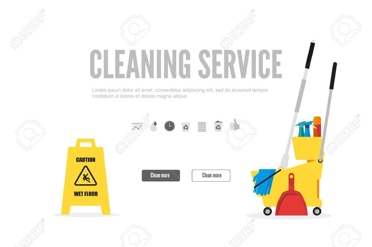 Web-Banner Oder Geschenkkarte Vorlage Für Eine Reinigung. Trendy ...