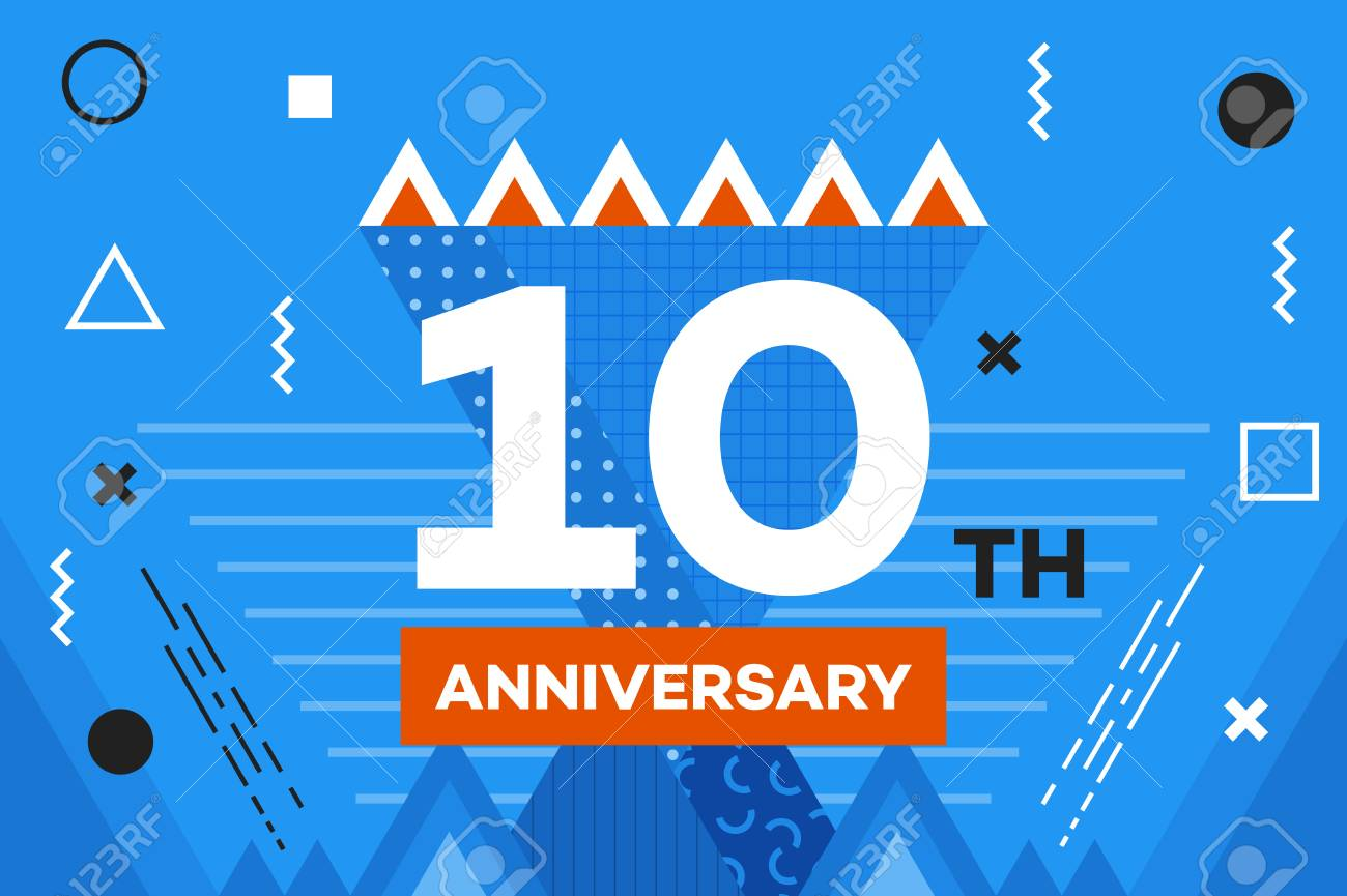 happy anniversary placard hipster abstract vector background