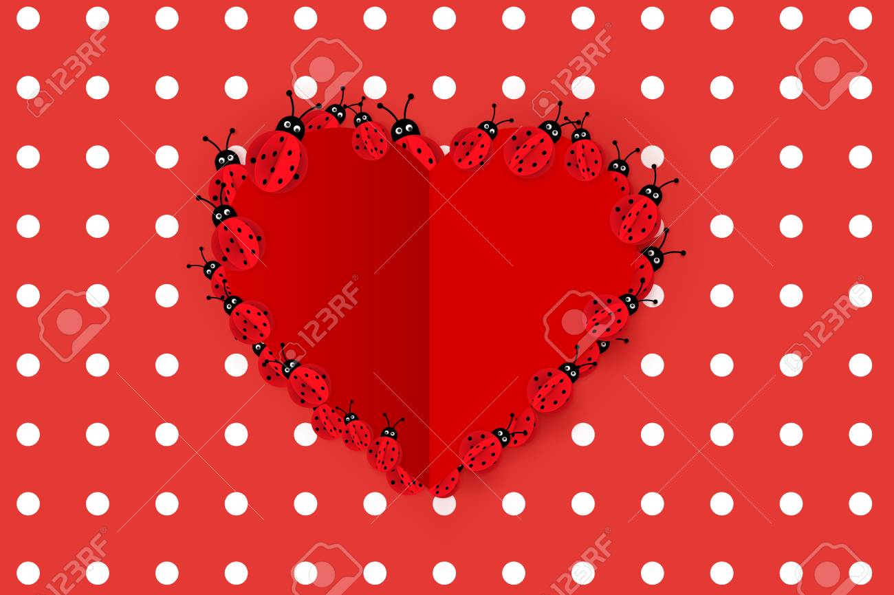 Happy Valentines Day Background Modern Abstract Paper Style
