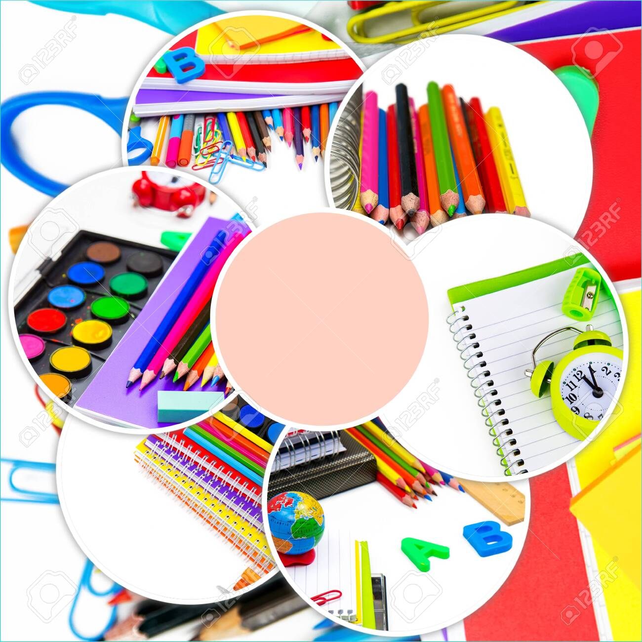 School Education Equipment Tools Collage - 152878497
