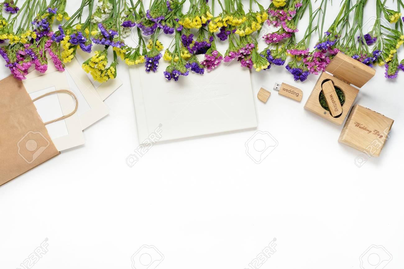 Craft Fotografie Verpackung Schöne Weiße Hochzeit Fotobuch, USB ...