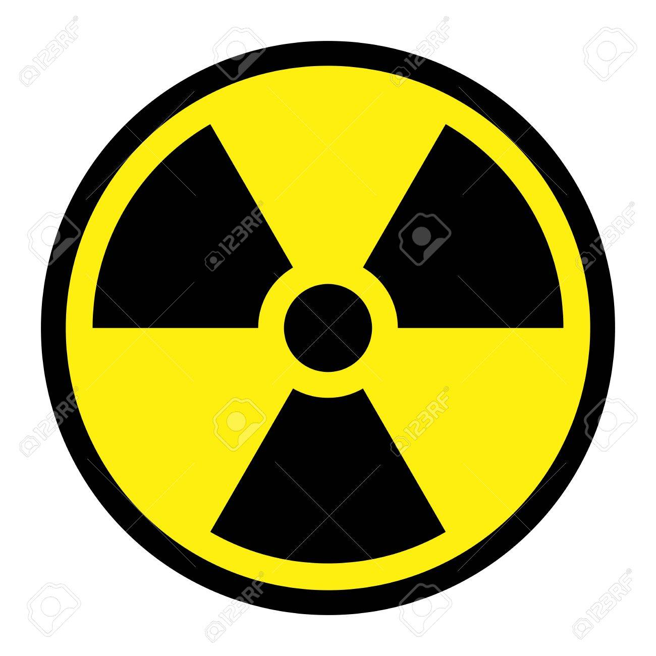 Radiation Round Sign Stock Vector - 4380537