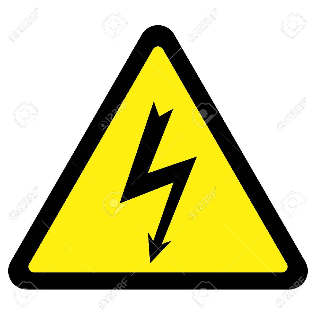 High Voltage Sign Stock Vector - 4380536